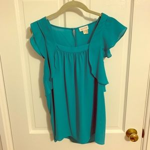 Anthropologie Meadow Rue turquoise top